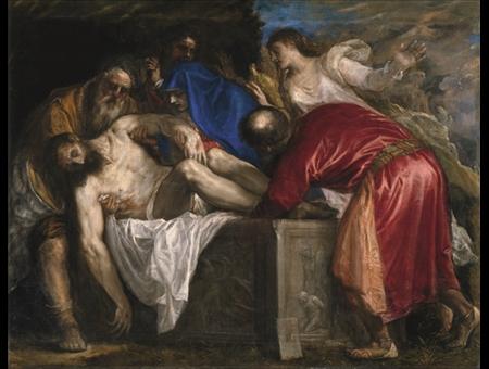 """Foto del dipinto """"Seppellimento di Cristo"""""""