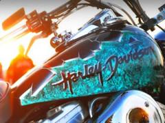 Il serbatoi di un Harley Davinson