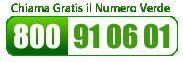 Contattaci al numero verde 800 91 06 01