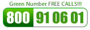 Green Number CALL FREE: 800 910 601
