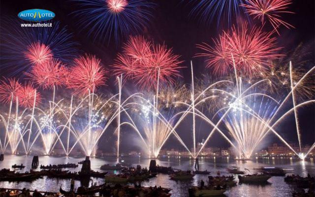 Panoramica della Festa del Redentore a Venezia