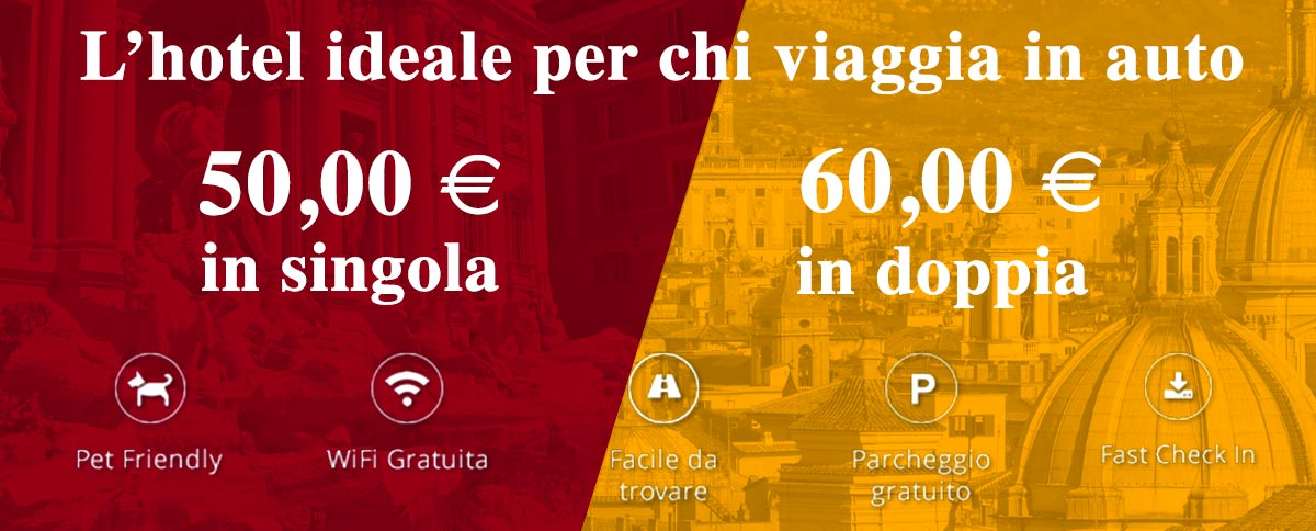 Autohotel Roma, ideale per chi viaggia in auto