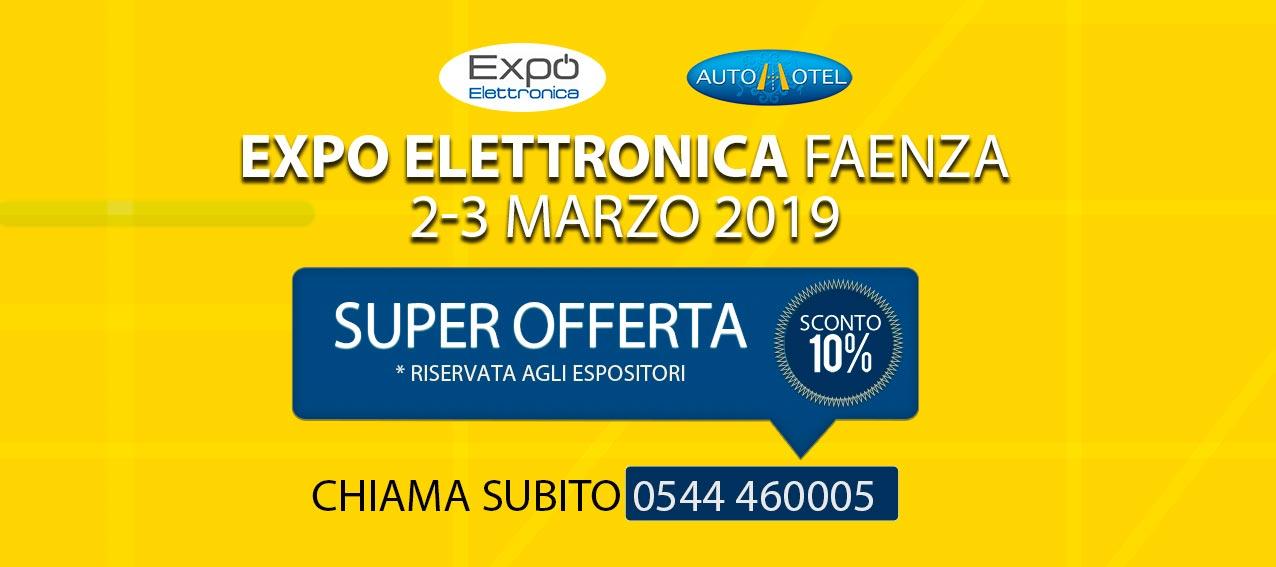 Sconto per gli espositori che parteciperanno all'Expo dell'elettronica di Faenza
