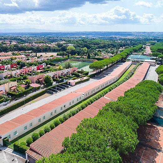 Autohotel Roma visto dall'alto