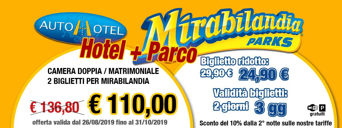 Autohotel + Mirabilandia a settembre e ottobre 110 euro