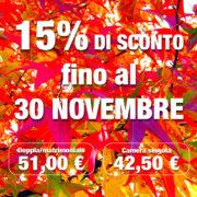 Autohotel Ravenna fino al 30 novembre 15% di sconto