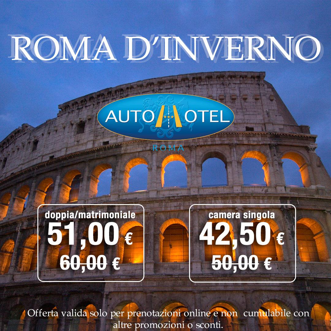 Da Autohotel visitare Roma in inverno è un grande affare- Sconto del 15%