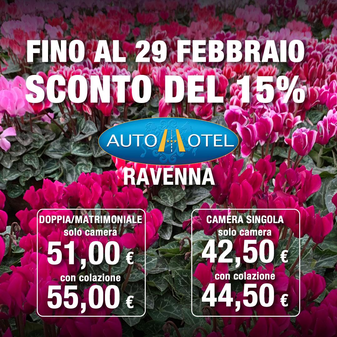 Autohotel Ravenna - Fino al 29 febbraio sconto del 15%