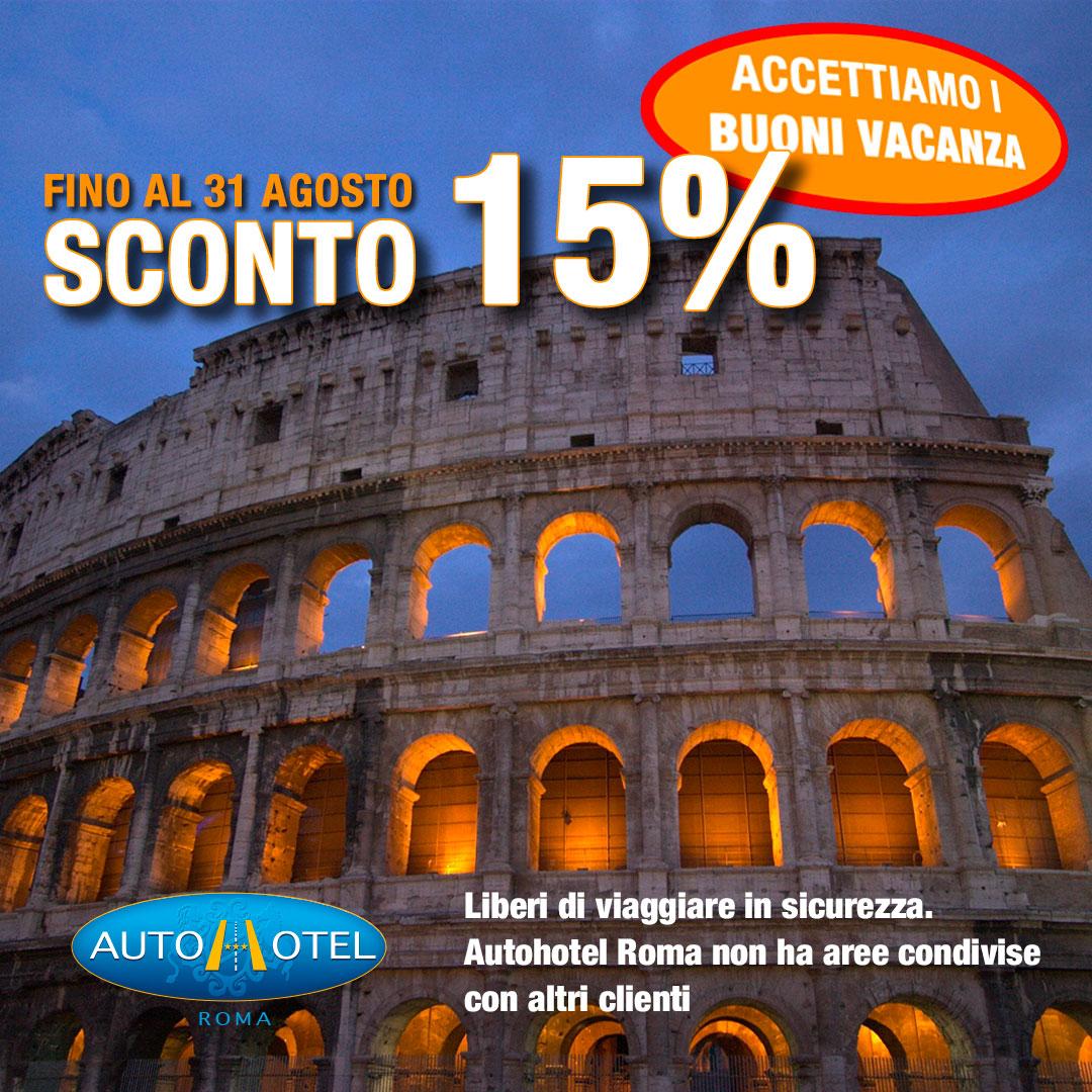 Autohotel Roma - offerta giugno 2020 - Sconto del 15%