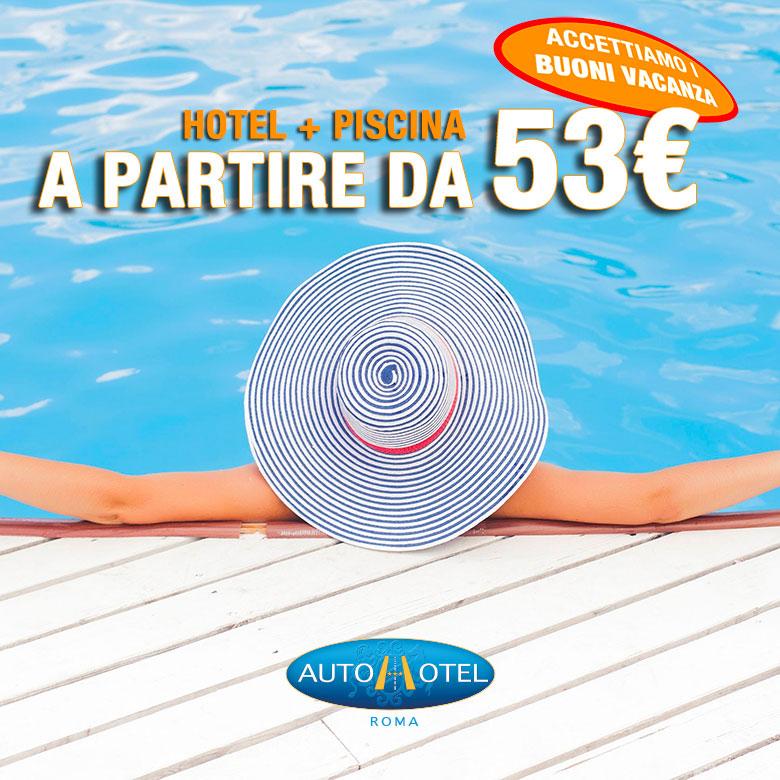 Autohotel Roma + piscina a partire da 55,00 €