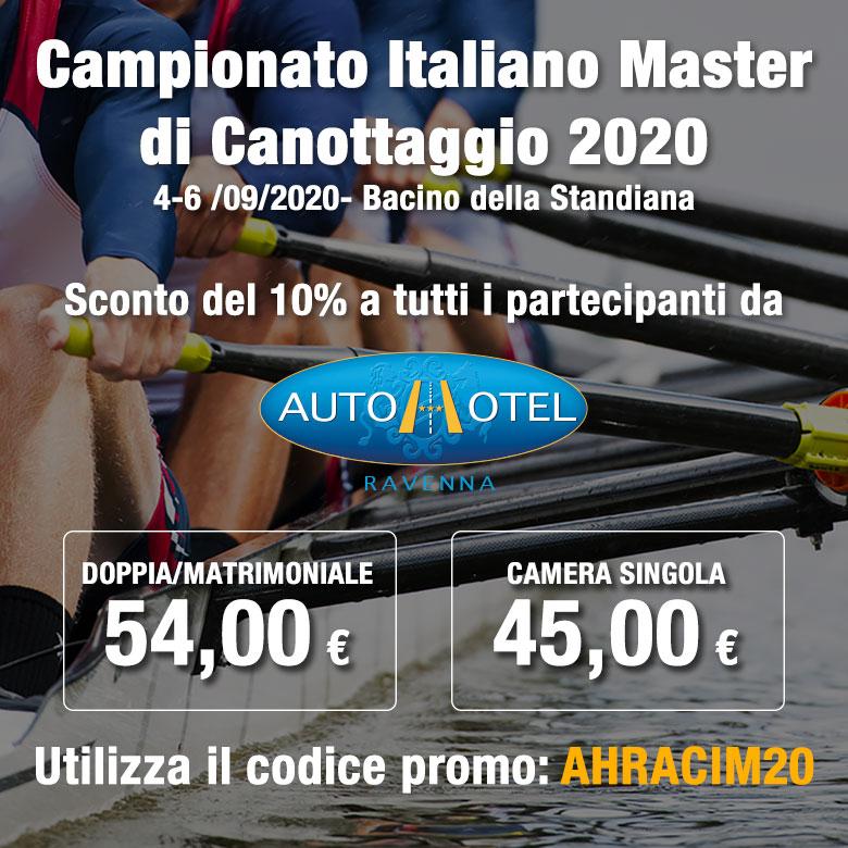 Da Autohotel tutti i partecipanti al Campionato Italiano Master di canottaggio hanno uno sconto del 10%