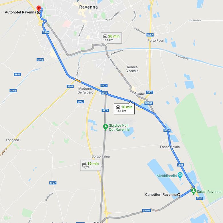 Autohtel Ravenna a soli 15 minuti dal Bacino della Standiana