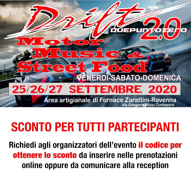 Sconto ai partecipanti all'evento: DRIFT 2020 - A Fornace Zarattini - Ravenna