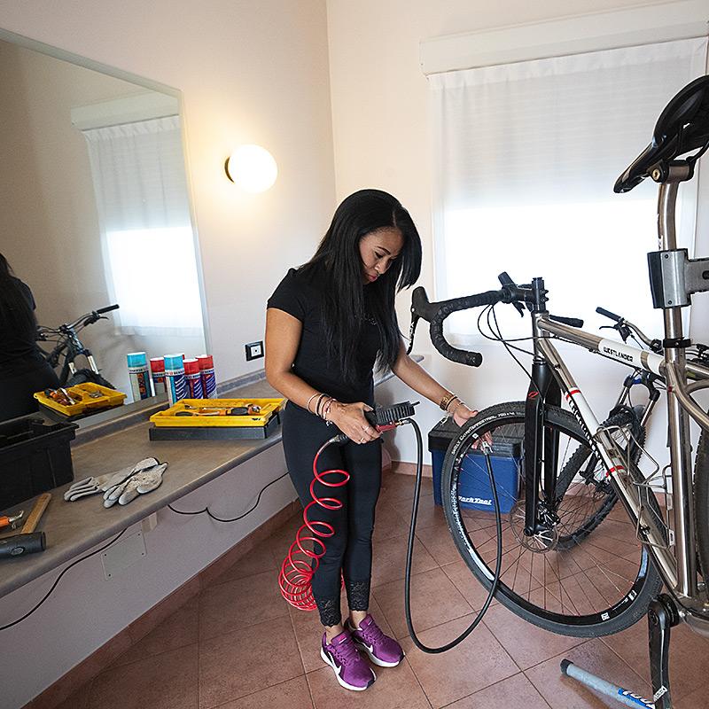 Puoi portare la tua bici in camera
