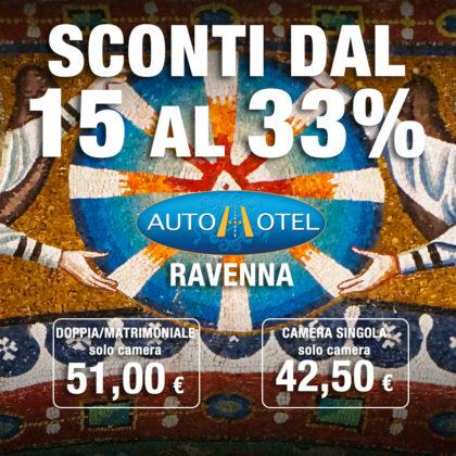 Autohotel Ravenna sconti dal 15 al 33%