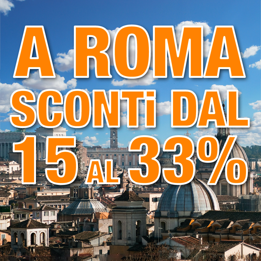 Da Autohotel Roma sconti dal 15 al 33%
